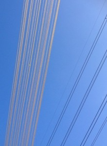 Power lines and wool