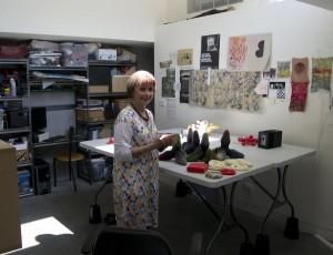 Sarah in her studio