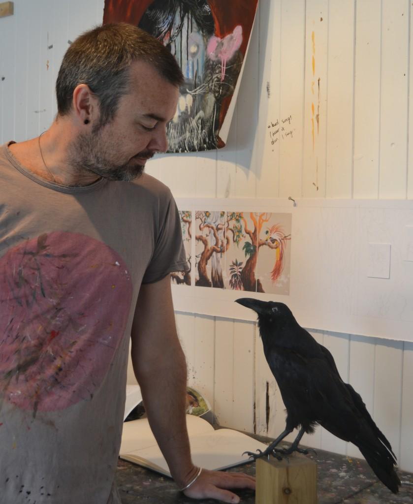 Josh and bird